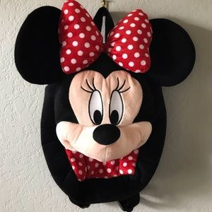 Disney Authentic Minnie Mouse Head Bow Backpack